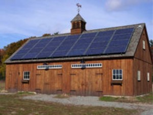 Solar panels at Moose Hill Audubon farm